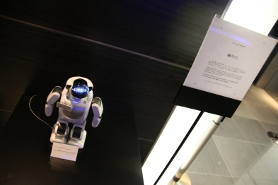 A robot greets us at the hotel...