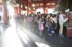 Shrine goers.