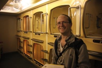 """Green Hotel, One of Tokyo's oldest """"Capsule Hotels""""."""