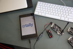 Tally Android app connected to Tally device